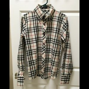 Boys Plaid Dress Shirt by VSKA  XL